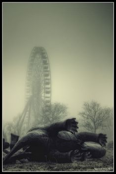 Spreepark, an abandoned theme park in Berlin, Germany