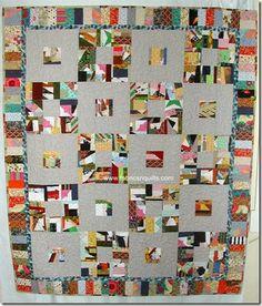 Fabrics N Quilts -Crumb Scrap Quilt