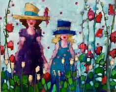 http://www.gibsonfineart.ca Angela  Morgan garden bloom