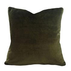 This Green Velvet Decorative Pillow Cover is a Sensational Throw Pillow, that has the Same Rich Dark Olive / Moss Green Velvet Fabric on Both Green Velvet Fabric, Green Velvet Pillow, Green Pillows, Velvet Pillows, Toss Pillows, Couch Pillows, Cushions, Decorative Pillow Covers, Throw Pillow Covers