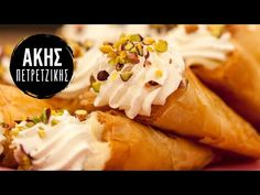 Greek Menu, Confectionery, Sweets, Cheese, Desserts, Recipes, Youtube, Food, Tailgate Desserts