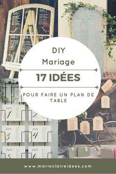 diy mariage , plan de table, idées pour faire un plan de table soi même pour un mariage