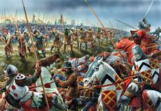 Battle of Crecy, 1346 English archers finish off the French knights that made it to the English battle line