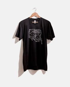 Pretend Store, Aries Constellation Tee    Aries: March 21- April 20  Aries is located in the northern celestial hemisphere between Pisces to the west and Taurus to the east. The name Aries is Latin for ram.  Screen printed in Charleston on black and white American Apparel Tees.