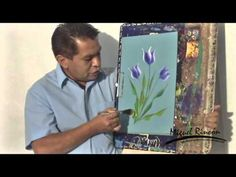 Miguel Rincón Pincelada Básica Tulipan - YouTube Acrylic Painting Techniques, Painting Videos, Painting Tools, Painting Lessons, Drawing Techniques, Art Lessons, Tulip Painting, One Stroke Painting, Painting & Drawing