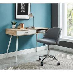 MACARON Chaise de bureau - Tissu gris anthracite - Classique - L 49 x P 49 555cc31482