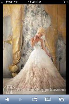 Ombre wedding dress