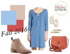 Airy Blue and Dusty Cedar - Top 10 Fall  2016 Colors to Step Up Your Style