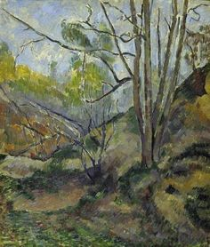 Paul Cézanne 1880c Undergrowth oil on canvas 55 x 60 cm Fitzwilliam Museum, Cambridge UK