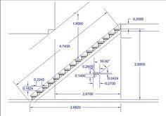 Hasil gambar untuk escalera en l medidas Modern Staircase, Staircase Design, Stair Design, Building Stairs, Building A House, Interior Stairs, Home Interior Design, Escalier Art, Stair Plan