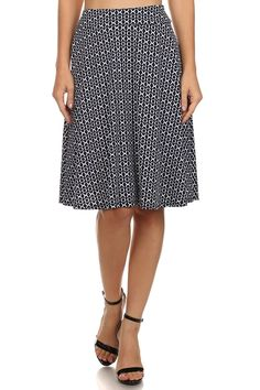 ReneeC. Women's Navy High Waisted Pleated Knee Length Midi Office Skirt * This is an Amazon Affiliate link. Click on the image for additional details.