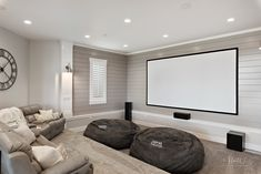 Movie Theater Room Parade of Homes 2018 House Movie Theater Basement, Movie Theater Rooms, Home Cinema Room, Cinema Theater, Movie Rooms, Tv Rooms, Game Rooms, Family Rooms, Living Room Theaters
