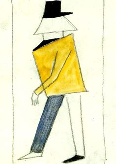 Sketch of a costume for the opera Victory over the Sun - : Canvas Art, Oil Painting Reproduction, Art Commission, Pop Art, Canvas Painting Piet Mondrian, Alexander Rodchenko, Kazimir Malevich, Russian Avant Garde, Avant Garde Artists, Art Archive, Oil Painting Reproductions, Russian Art, Canvas Art Prints