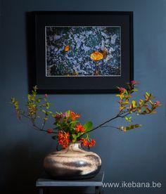 Sogetsu Ikebana inspired by a Picture - Ikebana: Ilse Beunen