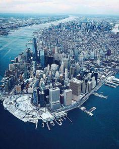 New York NYC New York City Travel Honeymoon Backpack Hiking Vacation G . - Travel and Extra New York From Above, New York Pictures, New York City Travel, Dream City, Jolie Photo, City Photography, Aerial Photography, Landscape Photography, New York Skyline