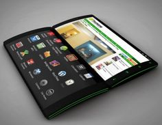 Smartphone concept with 3 touchscreens #FlipPhone #innovation #future #NTIC