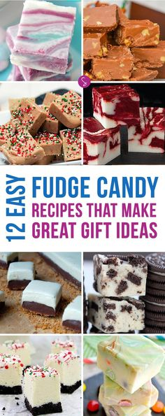 Oh My! These fudge candy recipes look YUMMY and will make perfect Christmas gifts!
