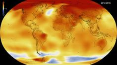 Map of climate anomalies to illustrate the news that 2016 surface temperatures were the warmest since modern recordkeeping began in 1880, according to independent analyses by NASA and the National Oceanic and Atmospheric Administration (NOAA).