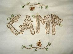 camp embroidery
