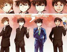 Shinichi, Heiji, Kaito and Saguru
