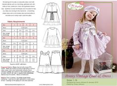 Penny Vintage Coat and Dress Pattern by EllieInspiredClothes