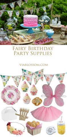 Fairy Birthday Party ideas at the Via Blossom Blog!  All the Fairy Decorations and Fairy inspiration for a girl birthday party!