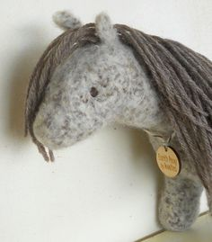 Waldorf Toy Horse - Natural Stuffed Animal  Eco Friendly by woolies, $65.00
