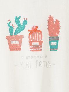 """""""mon jardin de mini potes""""tape a lóeil cactus"""