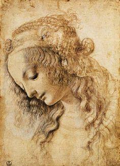 Leonardo da Vinci - Head of a woman