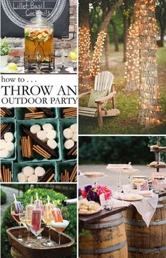 Outdoor parties