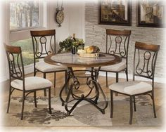 Hopstand Round Dining Room Table by Signature Design by Ashley. Get your Hopstand Round Dining Room Table at Furniture Warehouse, Holland MI furniture store. Round Counter Height Table, Round Dining Set, Kitchen Dining Sets, Dining Room Sets, Dining Room Chairs, Dining Room Furniture, Side Chairs, Dining Tables, Kitchen Tables
