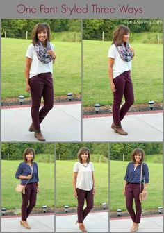 Styling skinny ankle pants from LOFT three different ways. Perfect for work wear! #graceandbeautystyle