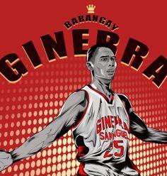 vector portrait  PBA basketball olayer japeth aguilar