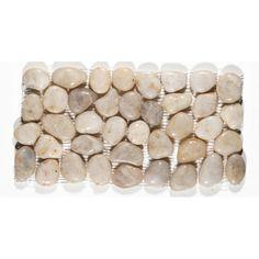 Smokey White Pebble Tile Border at Design For Less