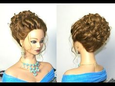 Wedding hairstyles for long hair. Romantic prom hairstyles - YouTube