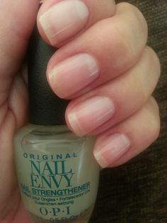 Six months taking Biotin daily and my OPI Nail Envy; I'm getting results!