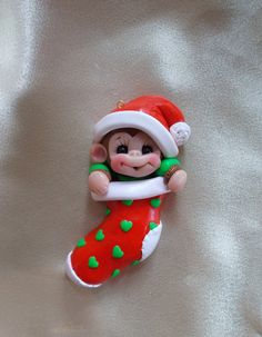 Monkey Baby Baby's first Christmas Stocking Ornament by clayqts, $17.95