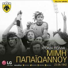 Μίμης Παπαϊωάννου  Είναι ο πρώτος σε συμμετοχές και πρώτος σκόρερ για την ομάδα μας στην Α' Εθνική με 480 αγώνες και 233 γκολ, με κατακτήσεις πέντε Πρωταθλημάτων (1963, 1968, 1971, 1978, 1979) και τριών Κυπέλλων Ελλάδας (1964, 1966, 1978) αλλά και με αποφασιστική συμμετοχή στην πορεία της ΑΕΚ μέχρι τα ημιτελικά του Κυπέλλου ΟΥΕΦΑ 1977. Ήταν μέλος και της Εθνική Ανδρών από το 1963 έως το 1978, με 61 συμμετοχές και 20 γκολ.