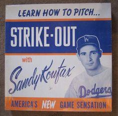50 Incredible Vintage Baseball Advertisements - Sandy Koufax for Strike-out #Baseball #Vintage