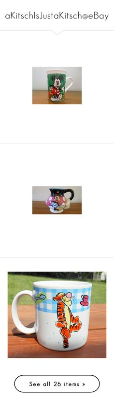 """aKitschIsJustaKitsch@eBay"" by justakitsch on Polyvore featuring home, kitchen & dining, drinkware, holiday coffee mugs, christmas coffee mugs, mickey mouse coffee mug, christmas drinkware, disney tea cup, minnie mouse mug and paris mug"
