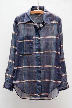 Isabel Marant Check Organza Viane Shirt