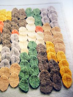 Little Felt Ovals all sewn together with a straight stitch.:)