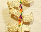 Baskets of Rainbows Small or Medium Bird Toys