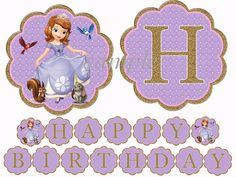 INSTANT DOWNLOAD Sofia the First  Birthday by LetsPartyShoppe, $3.50
