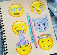 Image about art in emoji by flocke on We Heart It- *Imagen de emoji, art, and draw¡¡¡Parece de ojalata! App Drawings, Emoji Drawings, Disney Drawings, Cute Drawings, Art Sketches, Art Quotidien, Social Media Art, Emoji Pictures, Emoji Wallpaper