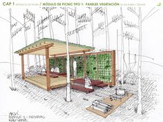 Tecnología y Sistemas Constructivos: Mobiliario urbano para el parque ARVI, Medellín (Colombia)