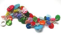 button charm bracelet tutorial