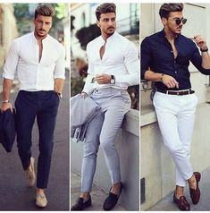 Shirts New Brand Fashion Men Luxury Stylish Striped Button Casual Dress Long Sleeve Slim Fit Mens Casual Suits, Stylish Mens Outfits, Casual Outfits, Mens Fashion Blazer, Mens Fashion Wear, Topman Fashion, Fashion Fashion, Fashion Outfits, Zalando Style