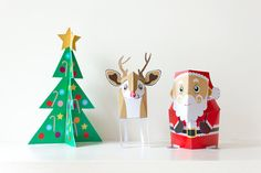 Christmas Toys Acitivity Pack / Santa toy / Paper toys / Printable/ INSTANT DOWNLOAD / DIY Paper craft Kit - by Kooee Papercraft