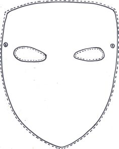 Make your own Purim mask by decorating the blank template